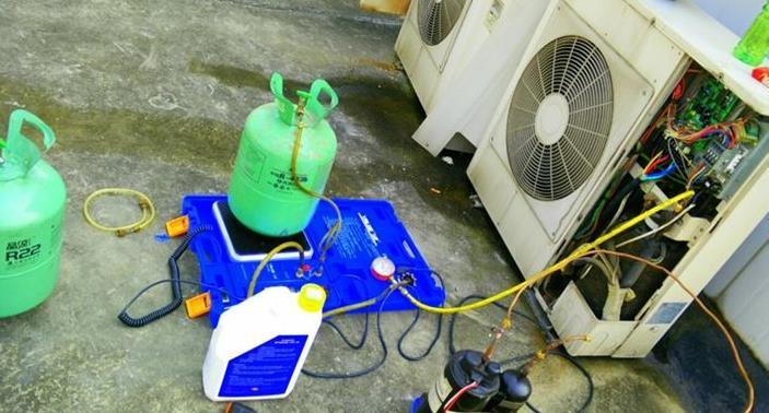 空调售后清洗加氟案例